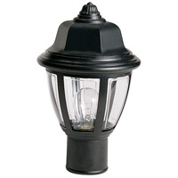 Nuvo Lighting Signature 1 Light Outdoor Post Lantern in Black 77/806