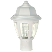 Nuvo Lighting Signature 1 Light Outdoor Post Lantern in White 77/807