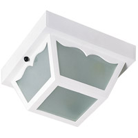Nuvo Lighting Signature 1 Light Outdoor Flush Mount in White 77/835