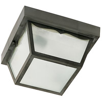 Nuvo Lighting Signature 1 Light Outdoor Flush Mount in Black 77/863