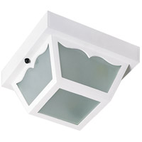 Nuvo Lighting Signature 1 Light Outdoor Flush Mount in White 77/879