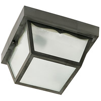 Nuvo Lighting Signature 1 Light Outdoor Flush Mount in Black 77/891