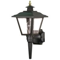 Nuvo SF77/896 Signature 1 Light 17 inch Black Outdoor Wall Lantern