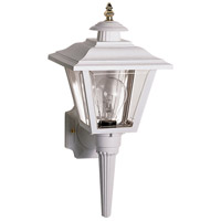 Nuvo SF77/897 Signature 1 Light 17 inch White Outdoor Wall Lantern