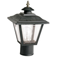 Nuvo Lighting Signature 1 Light Outdoor Post Lantern in Black 77/898