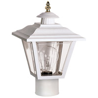 Signature 1 Light 13 inch White Outdoor Post Lantern