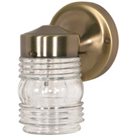 Nuvo Lighting Signature 1 Light Outdoor Wall Light in Antique Brass 77/995