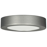 Blink LED 3 inch Satin Nickel Flush Mount Ceiling Light, Satco,Deep Dish