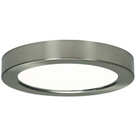 Blink LED 7 inch Brushed Nickel Flush Mount Ceiling Light, Round