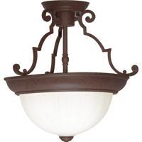 Nuvo SF76/436 Signature 2 Light 13 inch Old Bronze Semi Flush Mount Ceiling Light