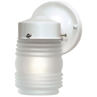 Nuvo SF76/702 Brentwood 1 Light 9 inch Gloss White Outdoor Wall Light