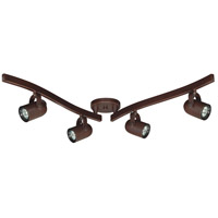 Signature 4 Light Russet Bronze Track Kit Ceiling Light