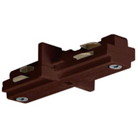 Nuvo Lighting Mini Straight Track Connector in Brown TP205