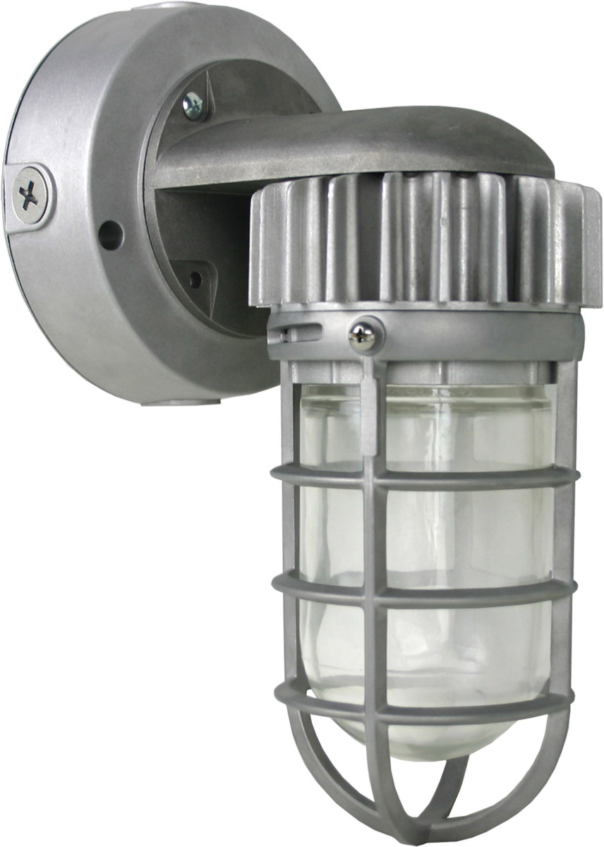 Nuvo Lighting 65/078 Brentwood LED 6 inch Silver Outdoor Flu