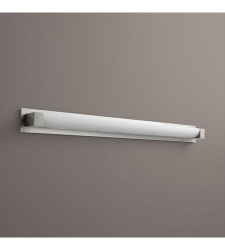 Balance 1 Light 50 Inch Satin Nickel Bath Vanity Wall Light In Backplate Accessory With Backplate Accessory