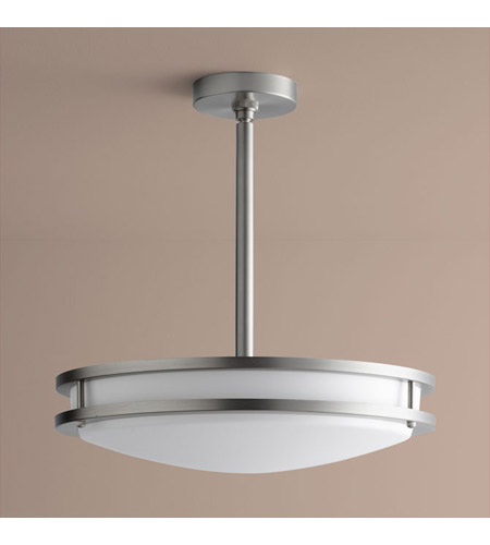 Oxygen Lighting 2-6210-24 Oracle 2 Light 18 inch Satin Nickel Pendant Ceiling Light photo