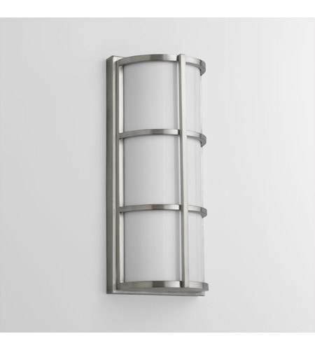 Satin Nickel Acrylic Outdoor Wall Lights