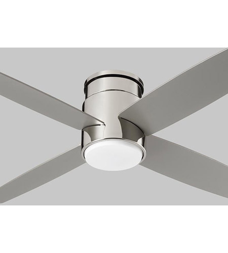 Oxygen Lighting 3 102 20 Oslo Hugger 52 Inch Polished Nickel With Silver Blades Indoor Fan In Polished Chrome Light Kit Sold Separately