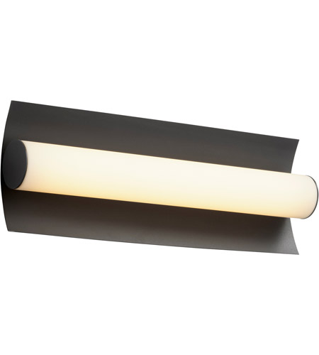 Oxygen Lighting 3-5021-15 Wave LED 18 inch Black Bath Vanity Wall Light alternative photo thumbnail