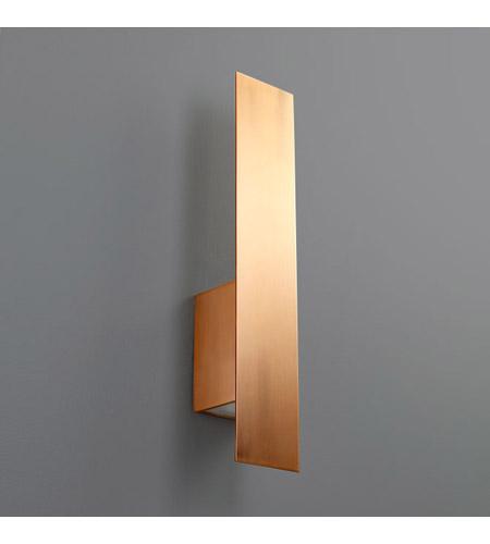 Oxygen Lighting 3 504 25 Reflex 2 Light 4 Inch Satin Copper Wall Sconce