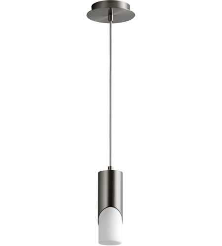 Satin Nickel Ellipse Pendants
