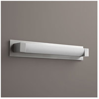 Oxygen Lighting 2-5137-24-BP224 Balance 1 Light 25 inch Satin Nickel Bath Vanity Wall Light with Backplate Accessory