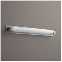 Oxygen Lighting 2-5138-24-BP324 Balance 1 Light 39 inch Satin Nickel Bath Vanity Wall Light with Backplate Accessory