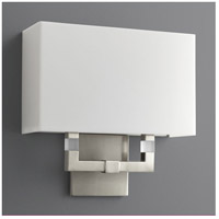 Oxygen Lighting 2-5146-224 Chameleon 2 Light 12 inch Satin Nickel Wall Sconce Wall Light in Matte White Acrylic