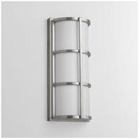 Oxygen Lighting 2-712-224 Leda 2 Light 17 inch Satin Nickel Outdoor Wall Light