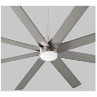 Cosmo 70 inch Polished Nickel with Silver Blades Ceiling Fan, Light Kit Sold Separately