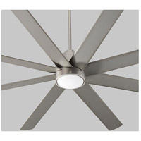 Cosmo 70 inch Satin Nickel with Silver Blades Ceiling Fan, Light Kit Sold Separately
