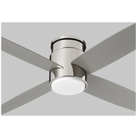 Oslo Hugger 52 inch Polished Nickel with Silver Blades Ceiling Fan, Light Kit Sold Separately