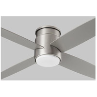 Oslo Hugger 52 inch Satin Nickel with Silver Blades Ceiling Fan, Light Kit Sold Separately