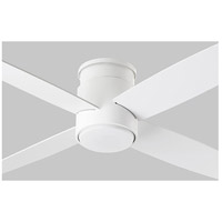 Oslo Hugger 52 inch White Ceiling Fan, Light Kit Sold Separately
