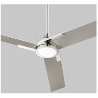 Coda 56 inch Polished Nickel with Silver Blades Ceiling Fan, Light Kit Sold Separately
