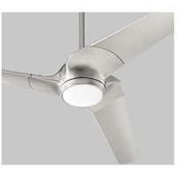 Sol 52 inch Satin Nickel with Silver Blades Ceiling Fan, Light Kit Sold Separately