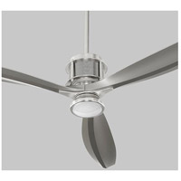 Propel 56 inch Satin Nickel with Silver Blades Ceiling Fan