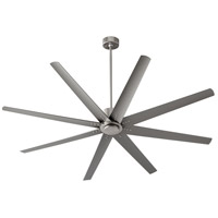 Oxygen Lighting 3-108-24 Fleet 72 inch Satin Nickel with Silver Blades Ceiling Fan
