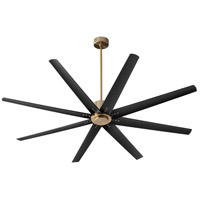 Oxygen Lighting 3-108-40 Fleet 72 inch Aged Brass with Matte Black Blades Ceiling Fan