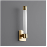 Oxygen Lighting 3-556-40 Zenith LED 4 inch Aged Brass Wall Sconce Wall Light