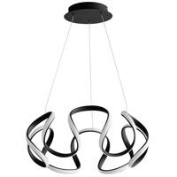 Oxygen Lighting 3-60-15 Cirro LED 22 inch Black Pendant Ceiling Light