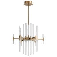 Oxygen Lighting 3-605-40 Miro LED 26 inch Aged Brass Pendant Ceiling Light