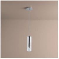 Gratis 1 Light 4 inch Polished Chrome Pendant Ceiling Light