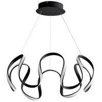 Oxygen Lighting 3-61-15 Cirro LED 28 inch Black Pendant Ceiling Light