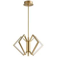 Oxygen Lighting 3-6142-40 Acadia LED 25 inch Aged Brass Pendant Ceiling Light