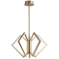 Oxygen Lighting 3-6143-40 Acadia LED 30 inch Aged Brass Pendant Ceiling Light