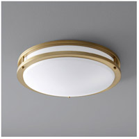 Oxygen Lighting 3-619-40 Oracle 1 Light 18 inch Aged Brass Flush Mount Ceiling Light