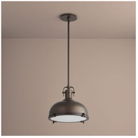 Vida 1 Light 17 inch Oiled Bronze Pendant Ceiling Light