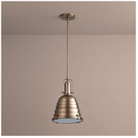 Sigma 1 Light 14 inch Satin Copper Pendant Ceiling Light