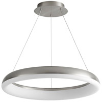 Oxygen Lighting 3-63-24 Roswell LED 24 inch Satin Nickel Pendant Ceiling Light